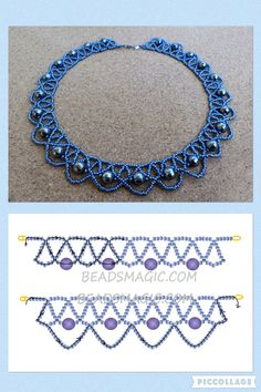 Best Seed Bead Jewelry 2017 Free pattern for beaded necklace Galaxy Chain 🎀 (with instructions) · ☆ · · ☆ · — ℑ🎀 - Erica L. Beaded Necklace Patterns, Seed Bead Patterns, Beading Patterns, Beading Tutorials, Beaded Necklaces, Diy Necklace, Necklace Ideas, Necklace Designs, Bead Jewellery