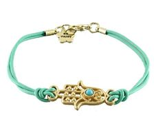 """Leather hamsa hand friendship bracelet with """"Be Happy"""" Charm free shipping on AliExpress.com. $1.29"""