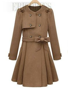 0fe57b7305f Double-breasted Skirt Hem wool coat - would love this in a deep purple or  cranberry color