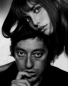Serge Gainsbourg and Jane Birkin. Great composition and execution. via Shelle Mannion