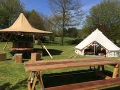 Mini nimbus tipi and bell tent - great for bars and glamping.