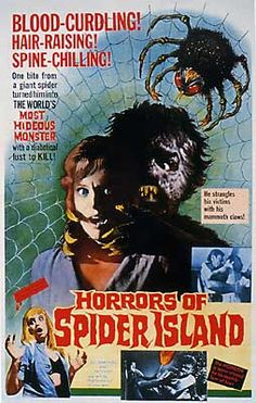 """""""HORRORS OF SPIDER ISLAND"""" (1962)"""