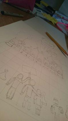 Start on my latest design #politics #politicalart #design #illustration #chess #control #power # police #art #shading