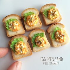 Egg sandwiches for dolls