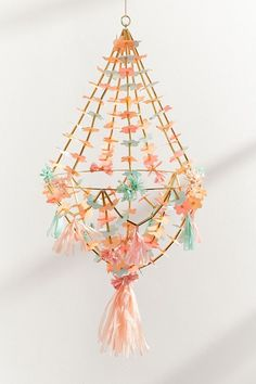 Slide View: 1: Meri Meri Paper Flower Chandelier