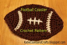 Ravelry: Football Coaster pattern by Katie Chase