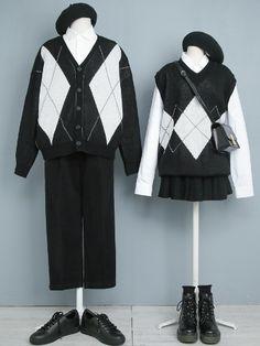 Kpop Fashion Outfits, Ulzzang Fashion, Harajuku Fashion, Korean Outfits, Cute Fashion, Fashion Dresses, Korean Street Fashion, Asian Fashion, Aesthetic Fashion