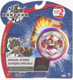 Bakugan HEAVY METAL VANDARUS Special Attack Red Pyrus Battle Brawler 2009 NEW SEALED #Bakugan #SpinMaster #SpecialAttackBakuganPopopenBrawlerGameActionFigure