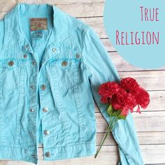 True Religion World Tour Section Emily Blue Jacket ★ In excellent condition, like new!  ★ Bright blue color, super unique piece! This True Religion World Tour Section Emily jacket is perfect for festival season. Definitely a statement piece!  ★ 98% Cotton || 2% Spandex. ★ NO TRADES!  ★ YES OFFERS! ✅ ★ Measurements available by request.  True Religion Jackets & Coats