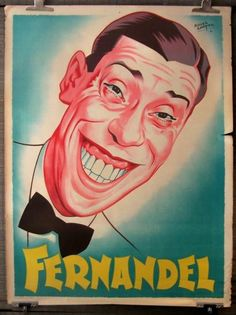 Affiches de cinéma de collection - vente aux enchères Caricatures, Vintage Poster, France, Portraits, Graphic Design Inspiration, Provence, Joker, Wall Art, Fictional Characters