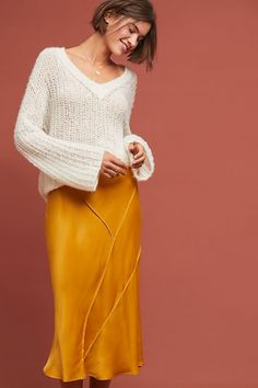 Phoebe Silky Skirt | Anthropologie UK