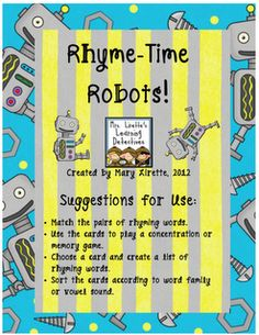 FREE rhyming activity