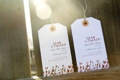 36 Cute And Clever Ways To Save TheDate- Luggage Tags    Could Passports be Cute too???