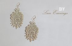 DIY: Lace Earrings | Green Wedding Shoes Wedding Blog | Wedding Trends for Stylish + Creative Brides