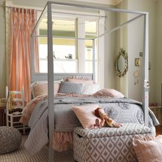 Vintage Girly Girls Bedroom from The Land of Nod