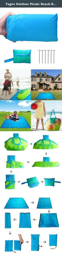 Tagvo Outdoor Picnic Beach Blanket + Sand Toy Bag, Waterproof Multifunctional Foldable Mat with 6 Steel Stakes, Sand Away Mesh Bag Tote Backpack for Kids Toys, 7 x 7 Feet Large Size Ground Sheet. Mesh bag-NOT Just a Mesh Bag it can be used for kids toy mesh bag but also laundry bag and a shopping bag Beach Blanket-Not Just a Blanket 1.a sun shade or rain cover tarp 2.an outdoor table cloth 3.a pet blanket 4.children game blanket 5.baby crawling pad 6.a car seat cover on the way home from…