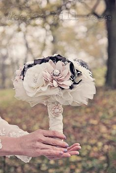 Hey, I found this really awesome Etsy listing at https://www.etsy.com/ru/listing/116744991/pink-and-grey-shabby-chic-fabric-flower