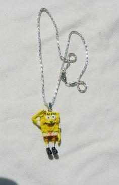Necklace childrens jewelry Sponge bob by JewelrybyDecember67, $20.00