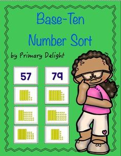 A base ten math center for 1st and 2nd graders;  sort number and base-ten cards; includes multiple representations of numbers; FREE!: