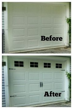 Faux FAKE Garage Door Windows  Custom by BigEvilGrinCustoms