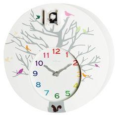 painted quartz motion clock, in white.