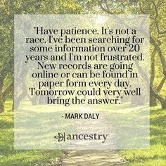 Don't race through your research. There's never a finish line.  #familyhistory #ancestry #heritage #roots #familytree #genealogy #ancestors #family