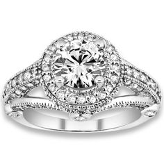 1.58 ctw 14k WG Natural G-H Color, I1 Clarity, Accent Diamonds Engagement Rings #diamondrings #rings #engagementrings @pricepointshop