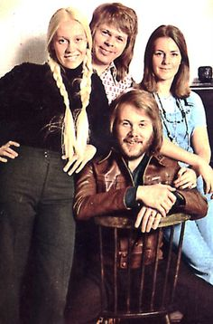 """1973-04-09 ABBA attend the """"Expressen Annual Spring Party"""" in a Stockholm restaurant."""