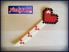 Heart bookmark pixel art hama perler by Pix'L'and