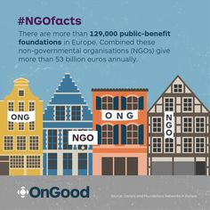 #NGOfacts There are 129,000+ foundations in #Europe that give more than 53bn euros annually.