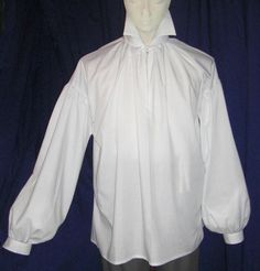 Mens Regency/ DARCY High Neck Cotton Dress Shirt with button cuff. $42.99