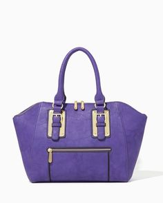 charming charlie | Caelin City Plated Buckle Satchel #charmingcharlie