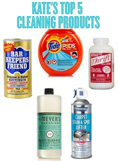 Kate's Top 5 Cleaning Products