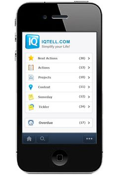 IQTell - great program and app for GTD