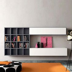 Wall mounted Tv media unit 'Minimalist 4' by Morassutti