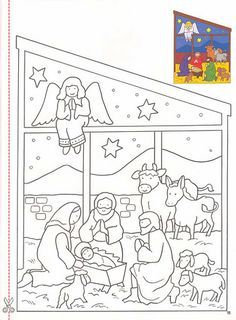 Article about The Nativity coloring page included on Coloring pages Nativity Crafts, Christmas Nativity, Noel Christmas, Christmas Colors, Christmas Crafts, Nativity Coloring Pages, Bible Coloring Pages, Christmas Coloring Pages, Coloring Books