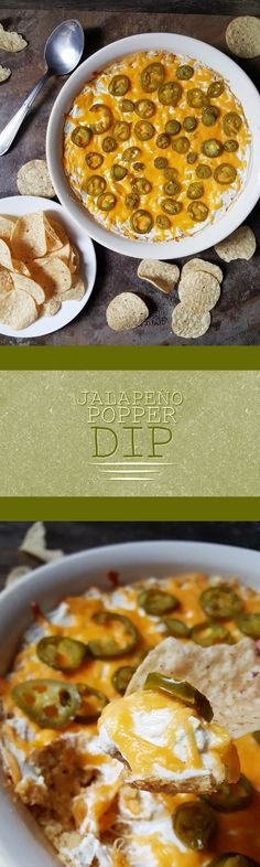 {Healthy, Gluten-Free, Vegan-adaptable} Perfect for big games and parties and everything in between, this jalapeño popper dip is sure to be a crowd-pleaser!