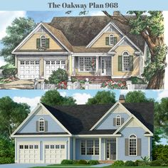 A new rendering for The Oakway plan 968. #WeDesignDreams #DonGardnerArchitects