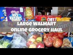 Large WalMart Online Grocery Haul - YouTube