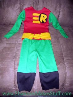 c586144604ed DIY Superhero Costume   DIY Robin Costume... A Tutorial Superhero Dress Up
