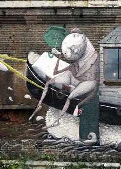 ZED1 New Mural In Amsterdam, Netherlands