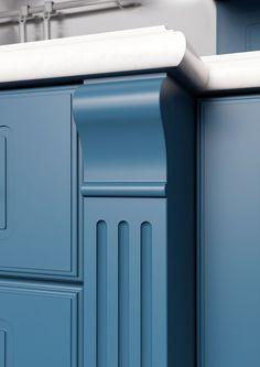 Каталог кухонь | BRISTOL BLUE | Кухни VIRS Bristol, Canning, Blue, Home Canning