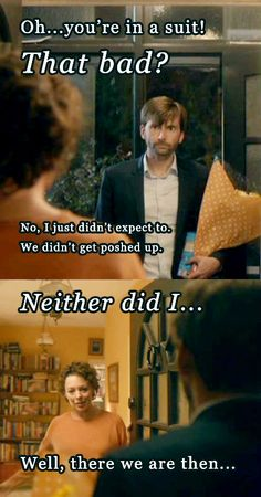 Oh...you're in a suit! #FunniestSceneOfTheShow #MillerAndHardySpats #Broadchurch