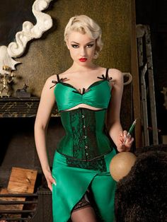 Emerald DeVille Suspender Skirt | Kiss Me Deadly