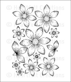 Sun Kissed Fleur Cling Stamp Set: click to enlarge