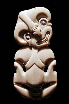 ymutate:  Traditional Maori Tiki Pendant. Musee du Quai Branly, Paris.