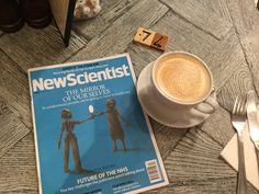 """A calm moment or two with a flat white and the wonderful New Scientist magazine. A word of warning to my fellow arachnophobes out there: avoid pages 30-31 which is all about, according the magazine, """"the world's cutest spiders"""". Learn from my shock and horror. Paradoxically, though they make me scream, cry and on one occasion had me sleeping in the guest room because one decided to hang out on my bedroom ceiling, spiders fascinate me. One day I will learn more and confront my fear."""