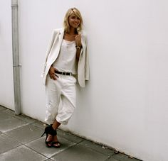 Cream blazer - look de pernille