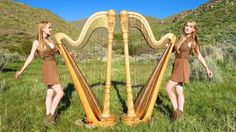 """Identical twins Camille and Kennerly Kitt, also known as the Harp Twins, performed an exquisite cover of the heavy metal Iron Maiden song """"Run to the George Orwell, Fiat Argo, Queen David Bowie, Run To The Hills, The Proclaimers, Scottish Music, The Doobie Brothers, Nights In White Satin, Sun Painting"""