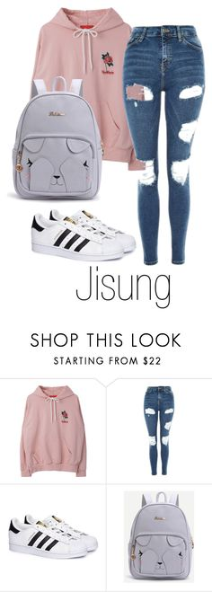 """NCT DREAM"" by vieen ❤ liked on Polyvore featuring Topshop and adidas"